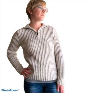 Pria Sweater Turtleneck or Polo Eggshell Color